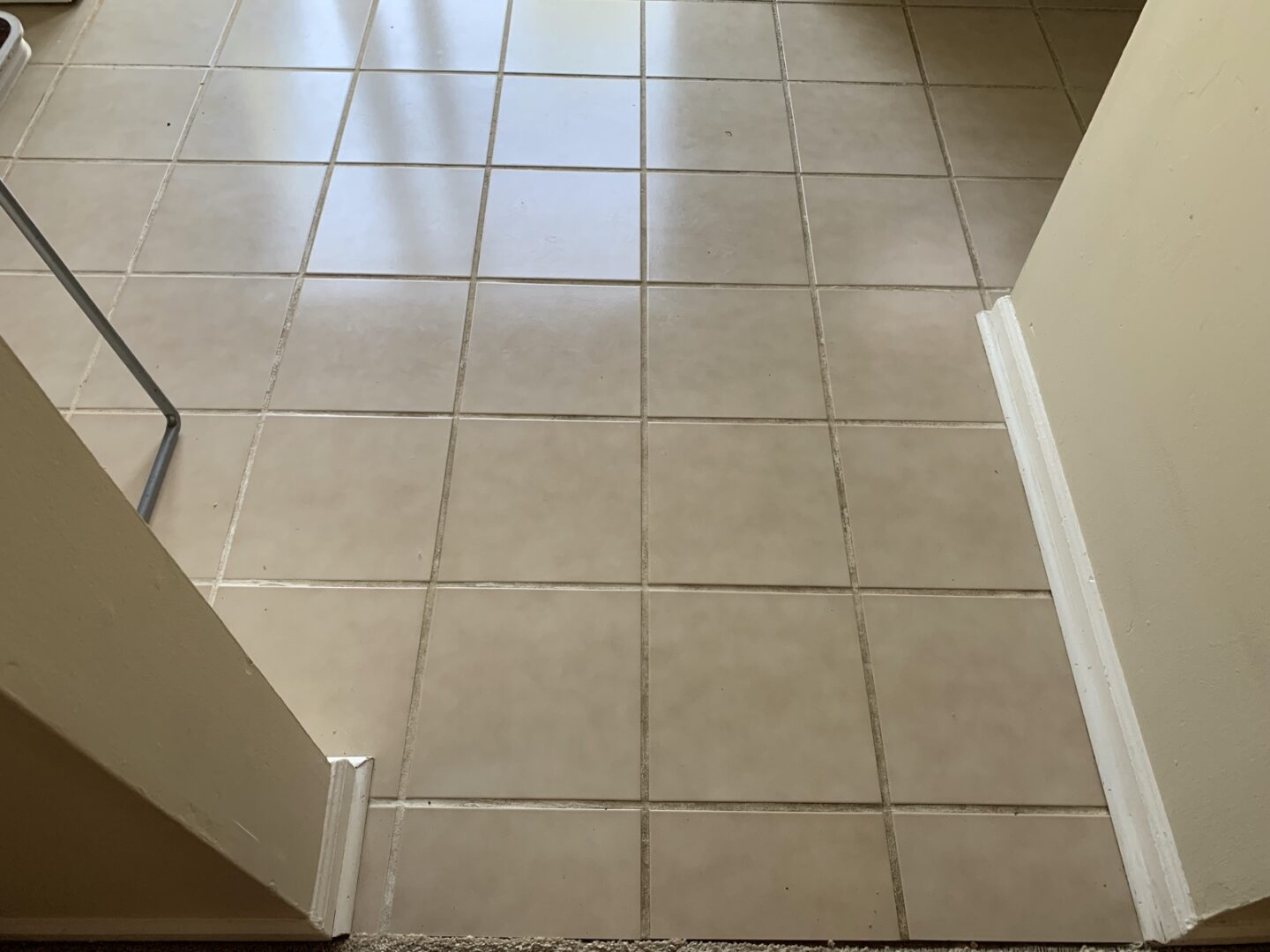 Before tile cleaning